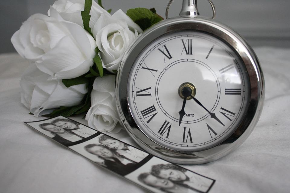 モノクロの時計