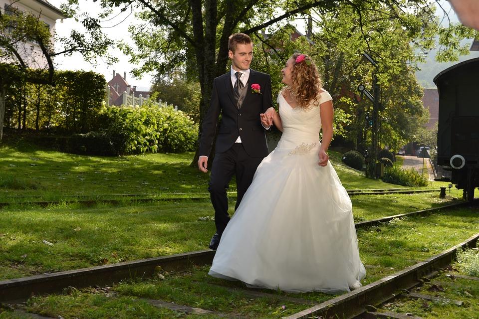 森林での結婚式