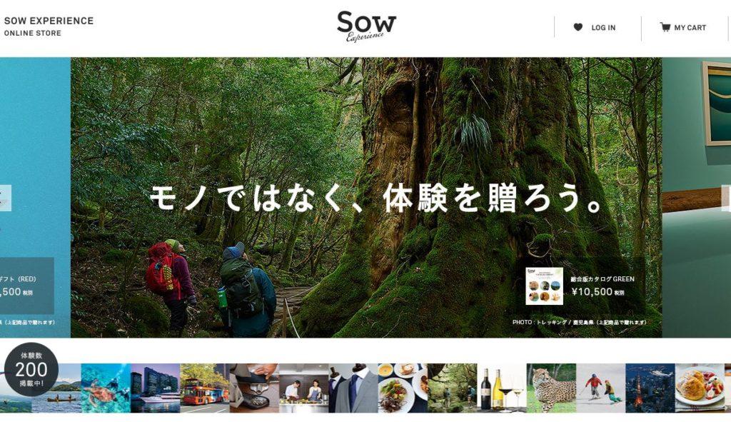 ソウ・エクスペリエンスのウェブサイト