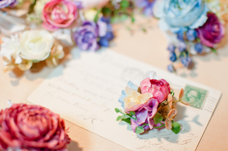 造花と手紙