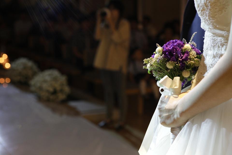 挙式中の新婦
