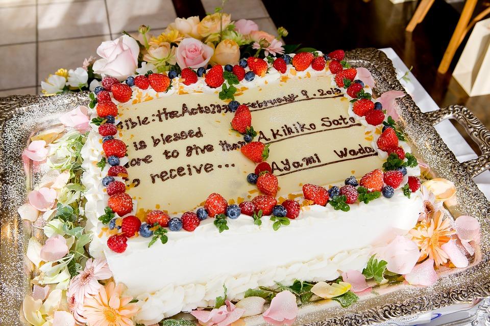特注のウェディングケーキ