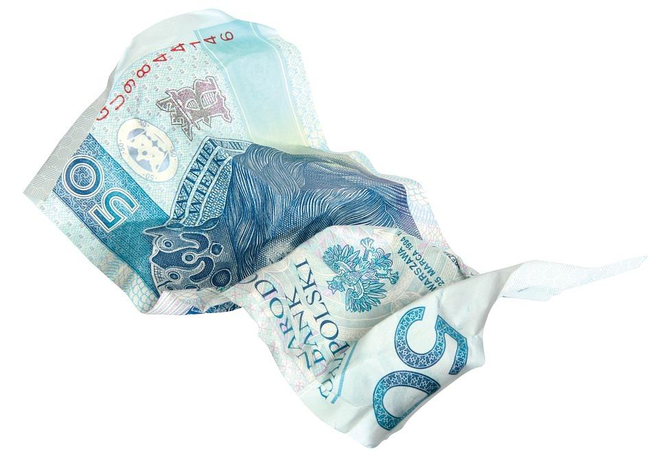 クシャクシャのお金